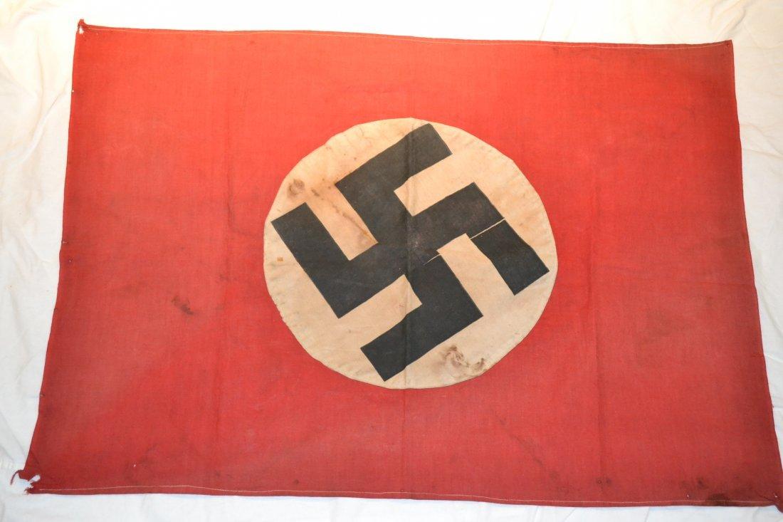 WWII NAZI GERMAN MILITARY VEHICLE FLAG DOUBLE SIDED