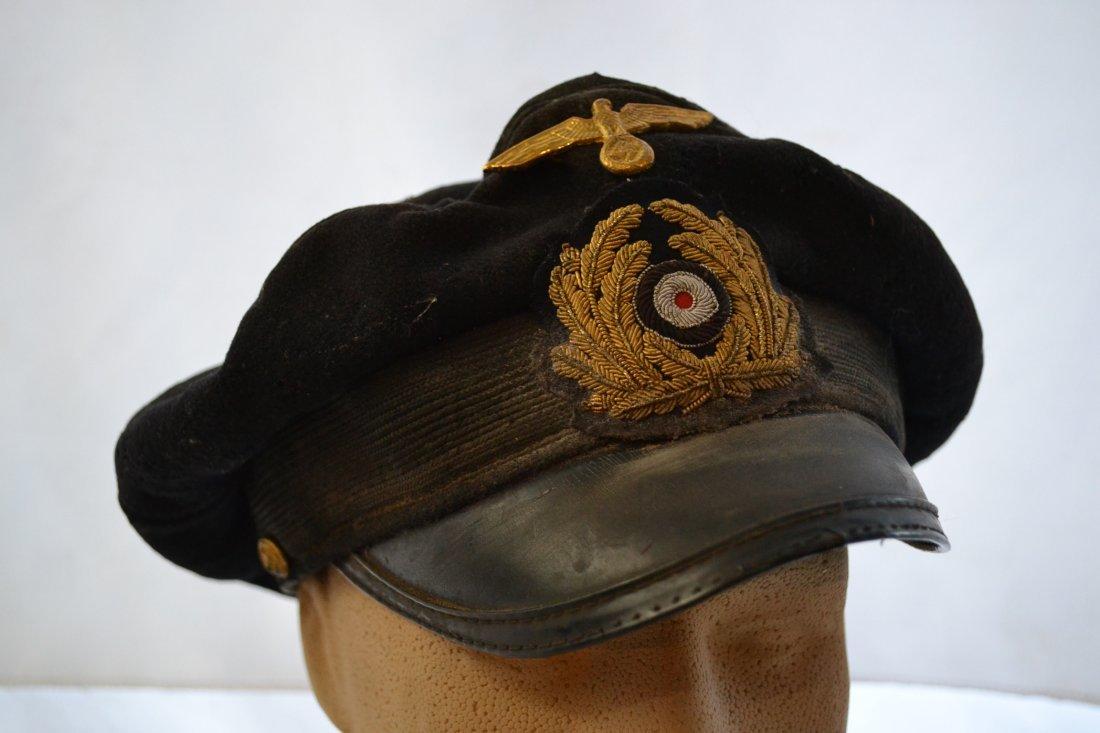 WWII GERMAN NAVY KRIEGSMARINE OFFICER CAP HAT U-BOAT