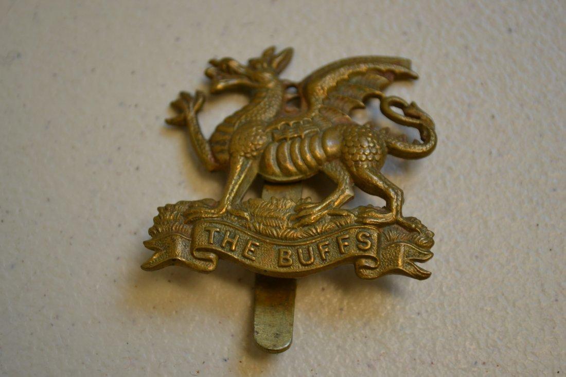 WWI BRITISH EAST KENT REGIMENT THE BUFFS CAP BADGE