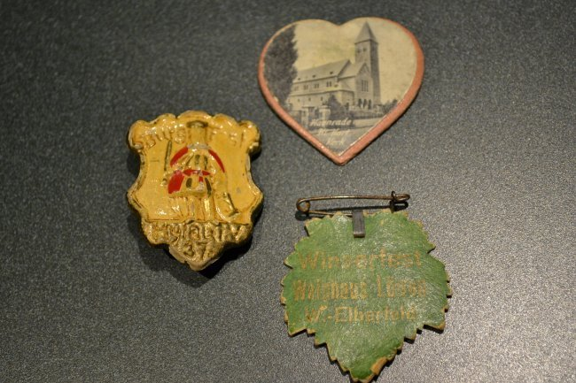1930'S GERMAN LOT OF 3 FESTIVAL PINS BADGES PIN BACKS