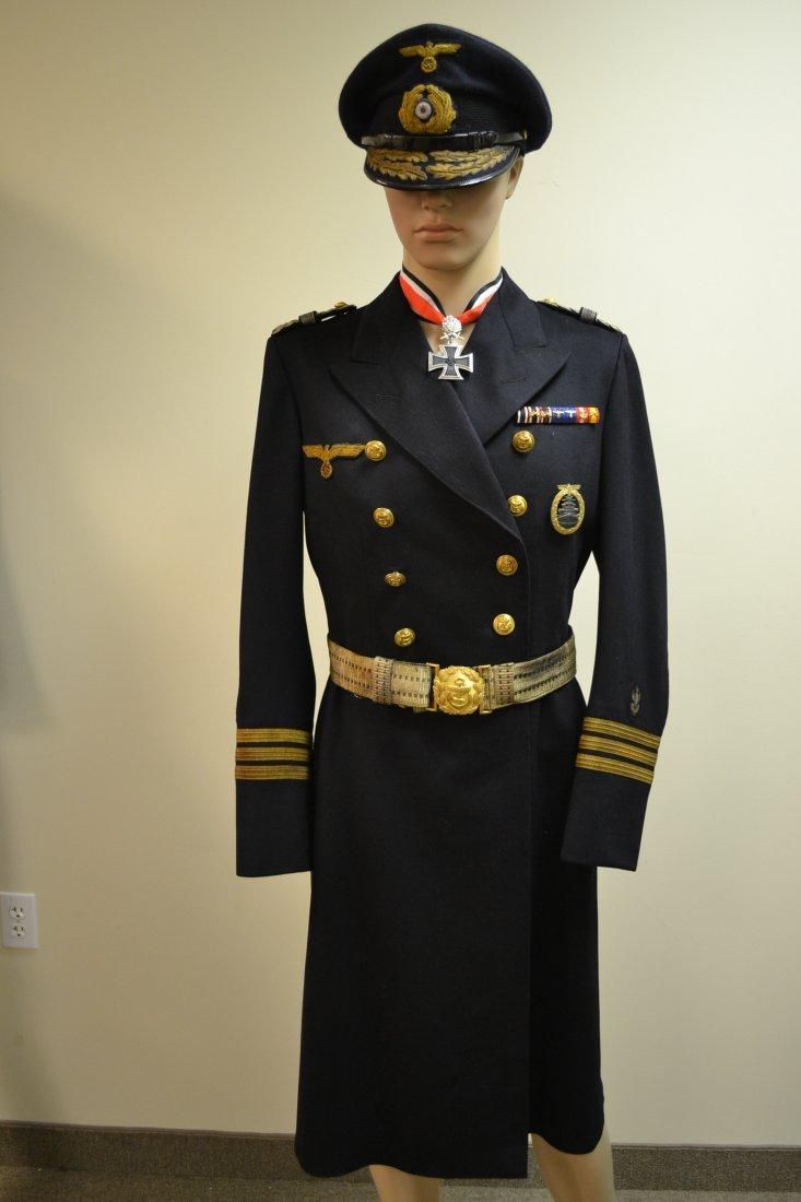 WWII GERMAN KRIEGSMARINE NAVY OFFICER LONG DRESS COAT