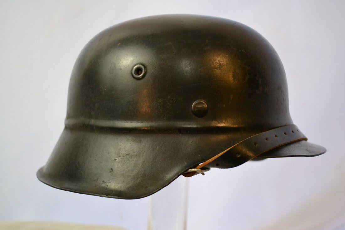 WWII GERMAN M42 BEADED HELMET LARGE SIZE 66 59 LINER