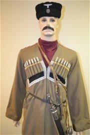 WWII RUSSIAN COSSACK TRADITIONAL DRESS UNIFORM GERMAN