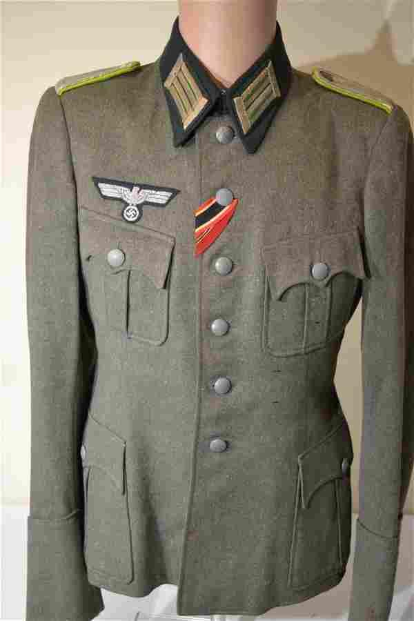 WWII GERMAN PANZER GRENADIER OFFICER UNIFORM TUNIC