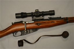 WWII RUSSIAN M91/30 MOSIN NAGANT SNIPER SCOPED RIFLE