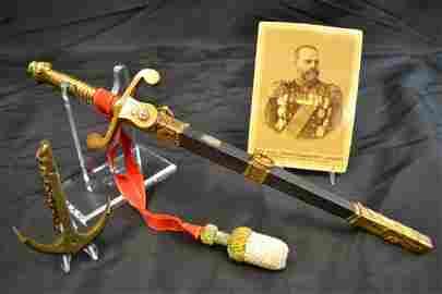 IMPERIAL RUSSIAN NAVY OFFICER 1914 AWARD DAGGER GROUP