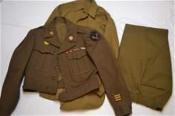 WWII US ARMY AIR 15th FORCE WW2 IKE JACKET SHIRT PANTS