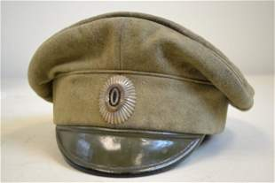WWI IMPERIAL RUSSIAN OFFICER VISOR FIELD CAP HAT
