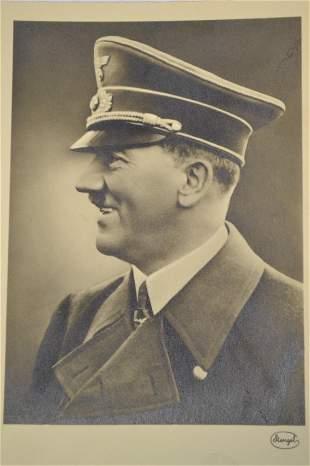 WWII GERMAN ADOLF HITLER PHOTO POSTCARD
