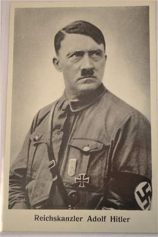 EARLY NAZI ADOLF HITLER GERMAN KANZLER POSTCARD
