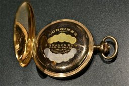ANTIQUE LONGINES 14K 56 GOLD POCKET WATCH WORKING