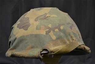 US ARMY PARATROOPER HELMET VIETNAM WAR CAMOUFLAGE COVER