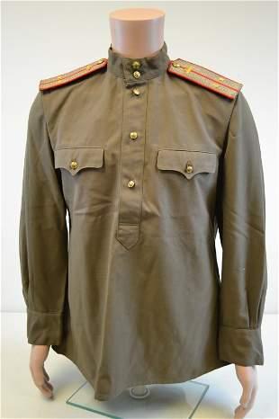 WWII SOVIET RUSSIAN TANKER OFFICER UNIFORM SHIRT