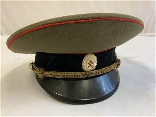 USSR SOVIET RUSSIAN ARMY OFFICER VISOR CAP