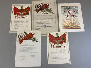 USSR EARLY SOVIET ARMY CITATION DOCUMENTS 1930S-40S