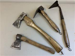VINTAGE USSR MADE AXES AND TOOLS SOVIET RUSSIAN
