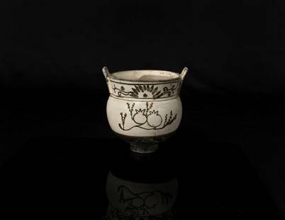 A Chinese Cizhou Ware Censer