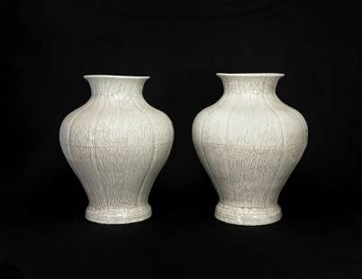 Two Chinese White-Glazed Jars