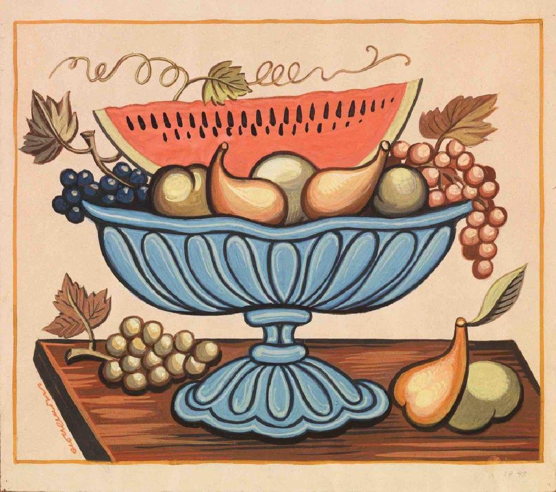 Agenor Asteriadis - Still life with fruit