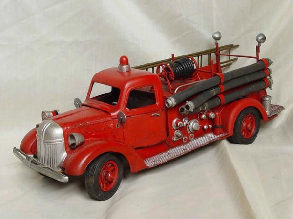 13A: Reproduction Toy Metal Fire Engine Truck