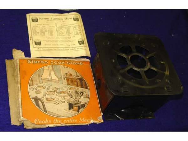 18: Sterno Cook Stove w/ Box and Instructions