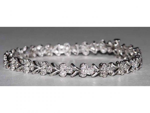 316: 14kt Gold 1ct Diamond Tennis Bracelet