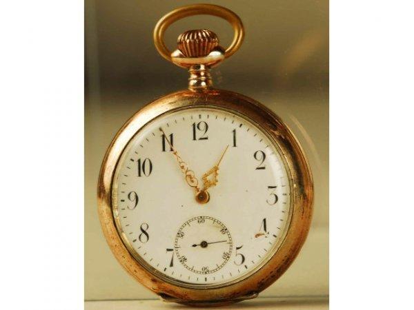 319: Fine Enamel Dial Men's Pocket Watch