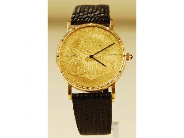 443: Corum 1900 $20 Double Eagle Liberty Coin Watch