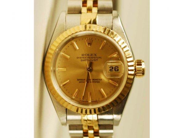 494: 14kt Gold & SS Men's Rolex Datejust Watch