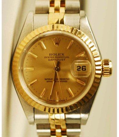 1013: 14kt Gold & SS Men's Rolex Datejust Watch