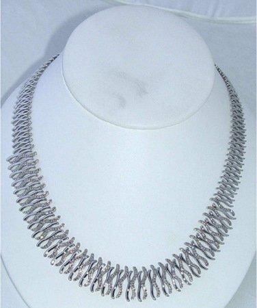 1021: 14kt Gold 2ct Diamond Necklace