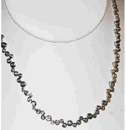 1317: Modern 14kt Gold 2ct Diamond Necklace