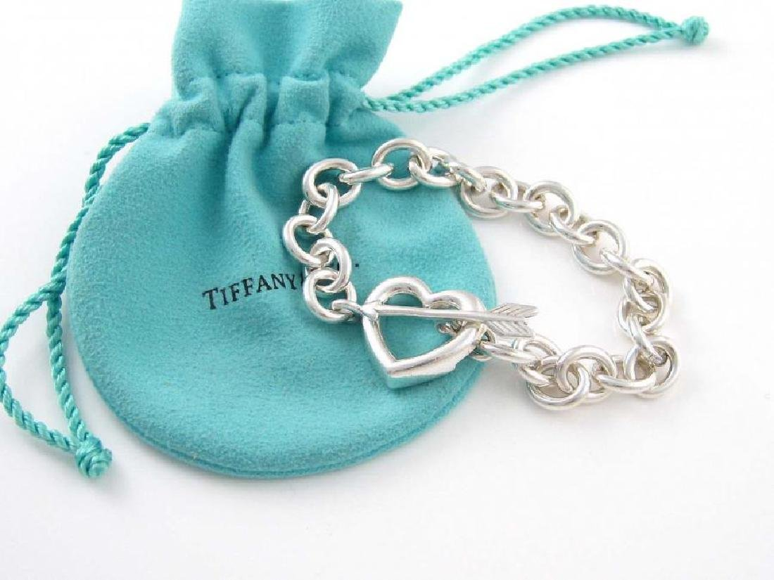 Tiffany & Co Sterling Silver Heart and Arrow Toggle