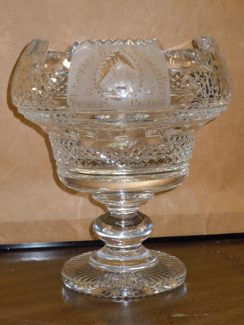 Rare Waterford Crystal Punch Bow Horse Racing Trophy