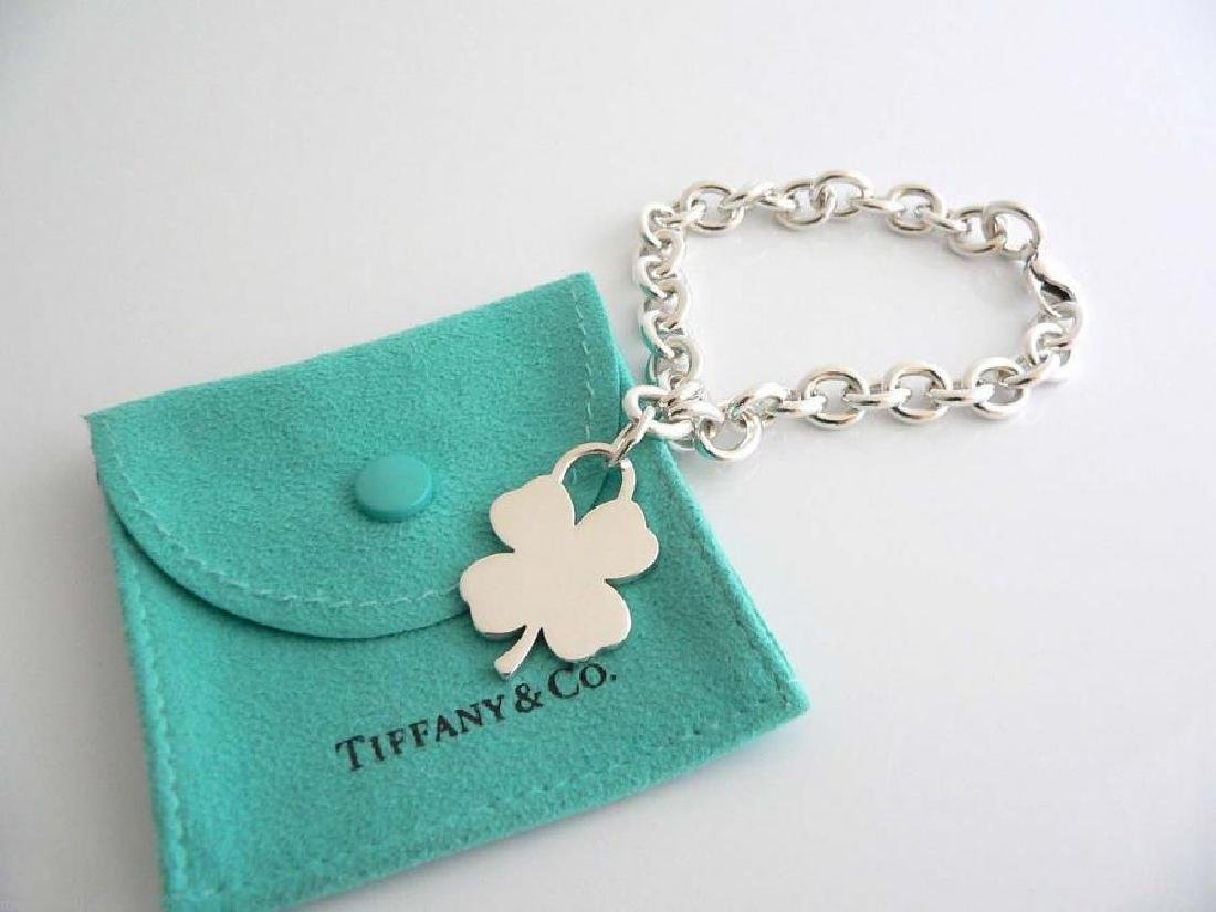 Sterling Silver Tiffany and Co. Shamrock Charm