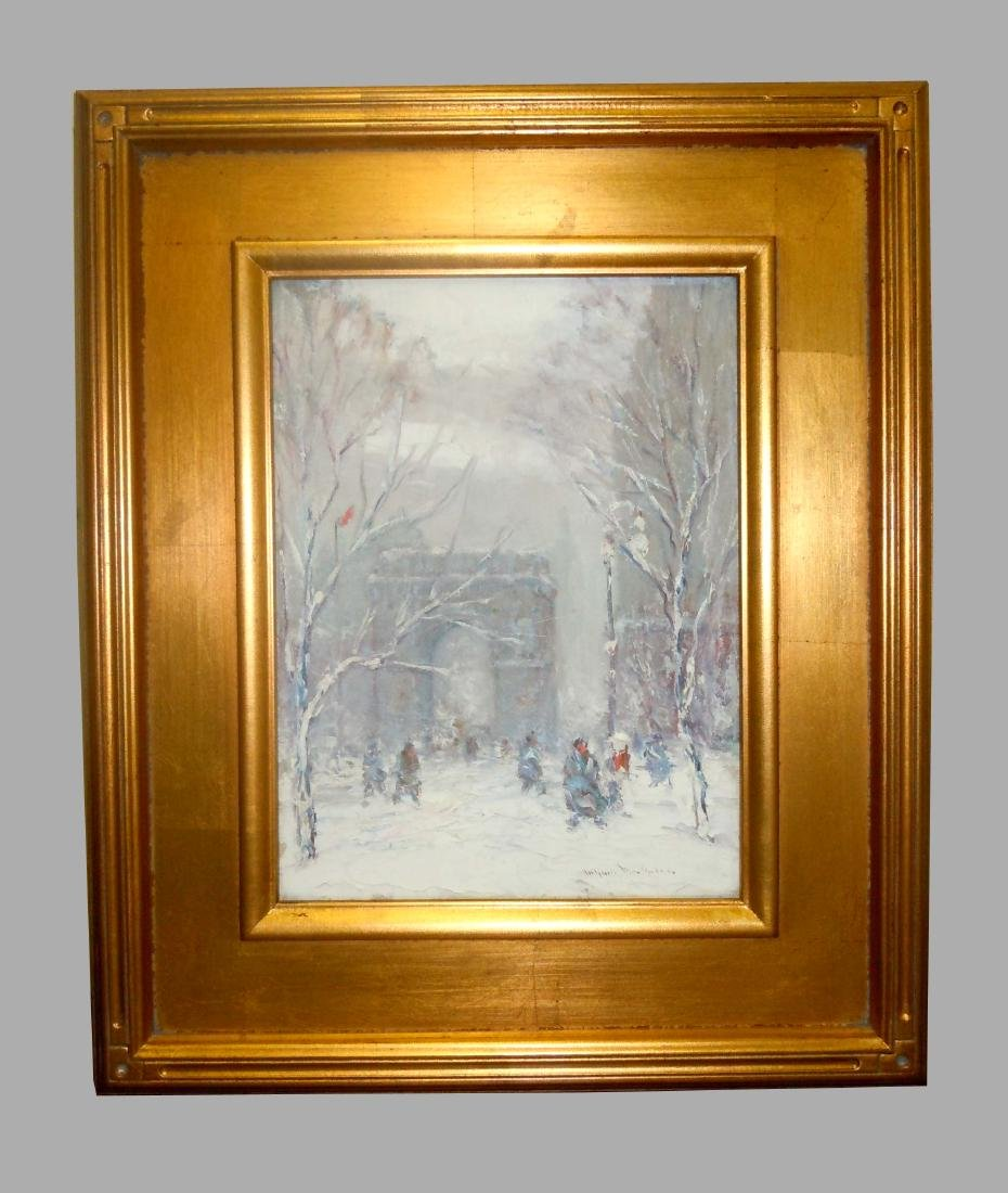 Johann Berthelsen Washington Square Park NYC Oil