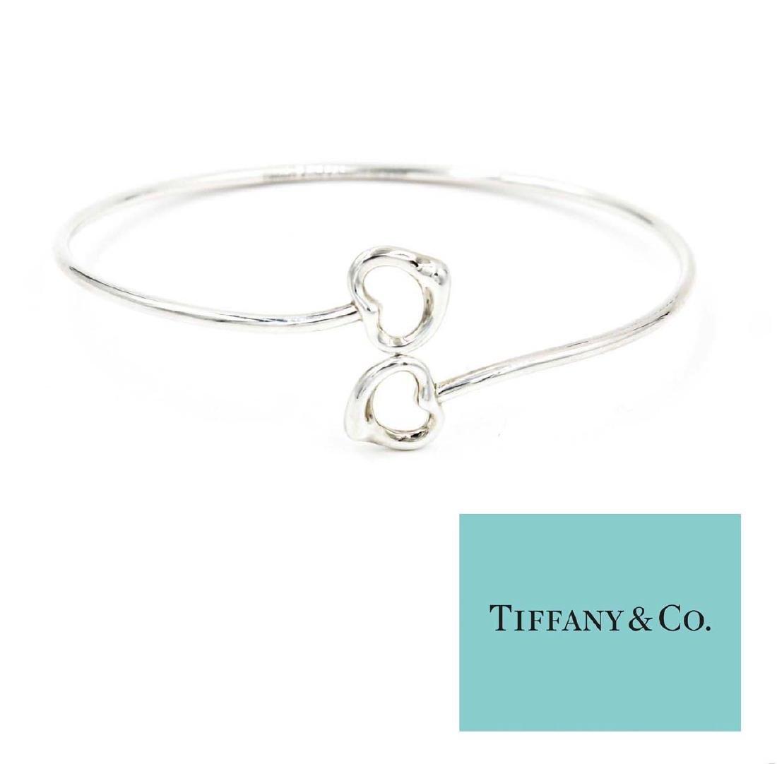 Sterling Silver Tiffany Heart Bangle Bracelet by Elsa