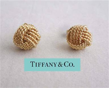 Tiffany and Co 18Kt Yellow Gold Somerset Mesh Love