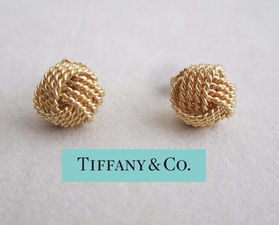 Tiffany and Co. 18Kt Yellow Gold Somerset Mesh Love