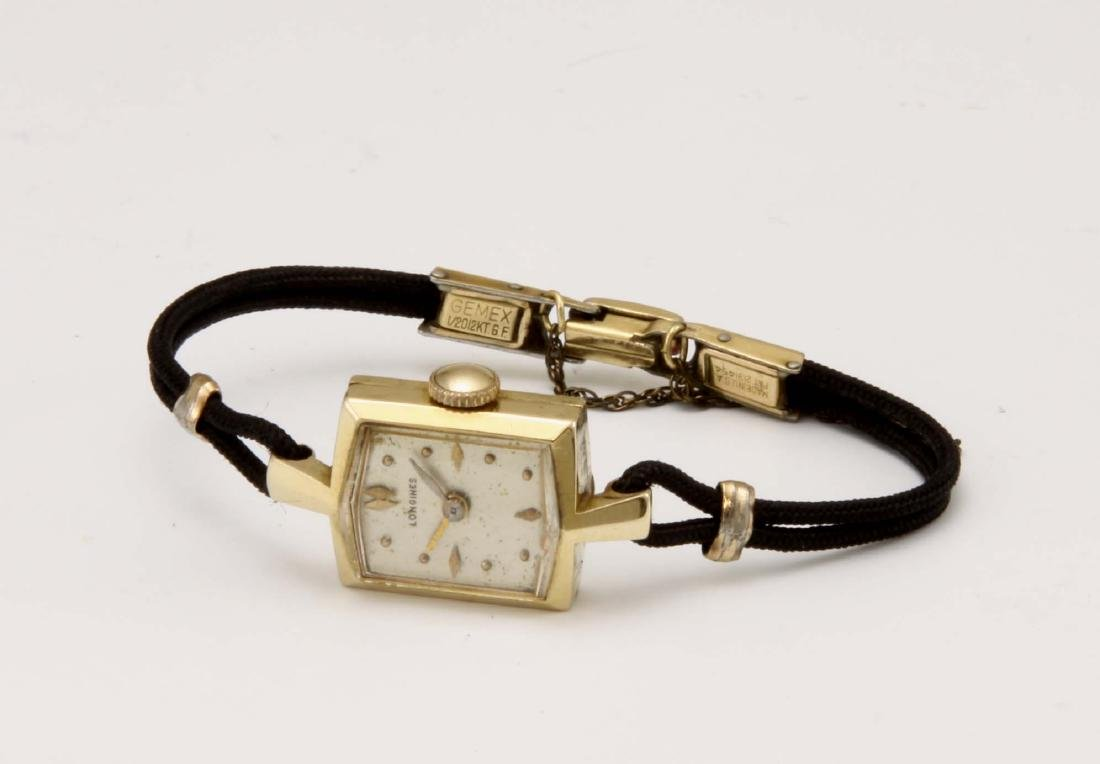 Art Deco Ladies Longines 14kt Yellow Gold Dress Watch,