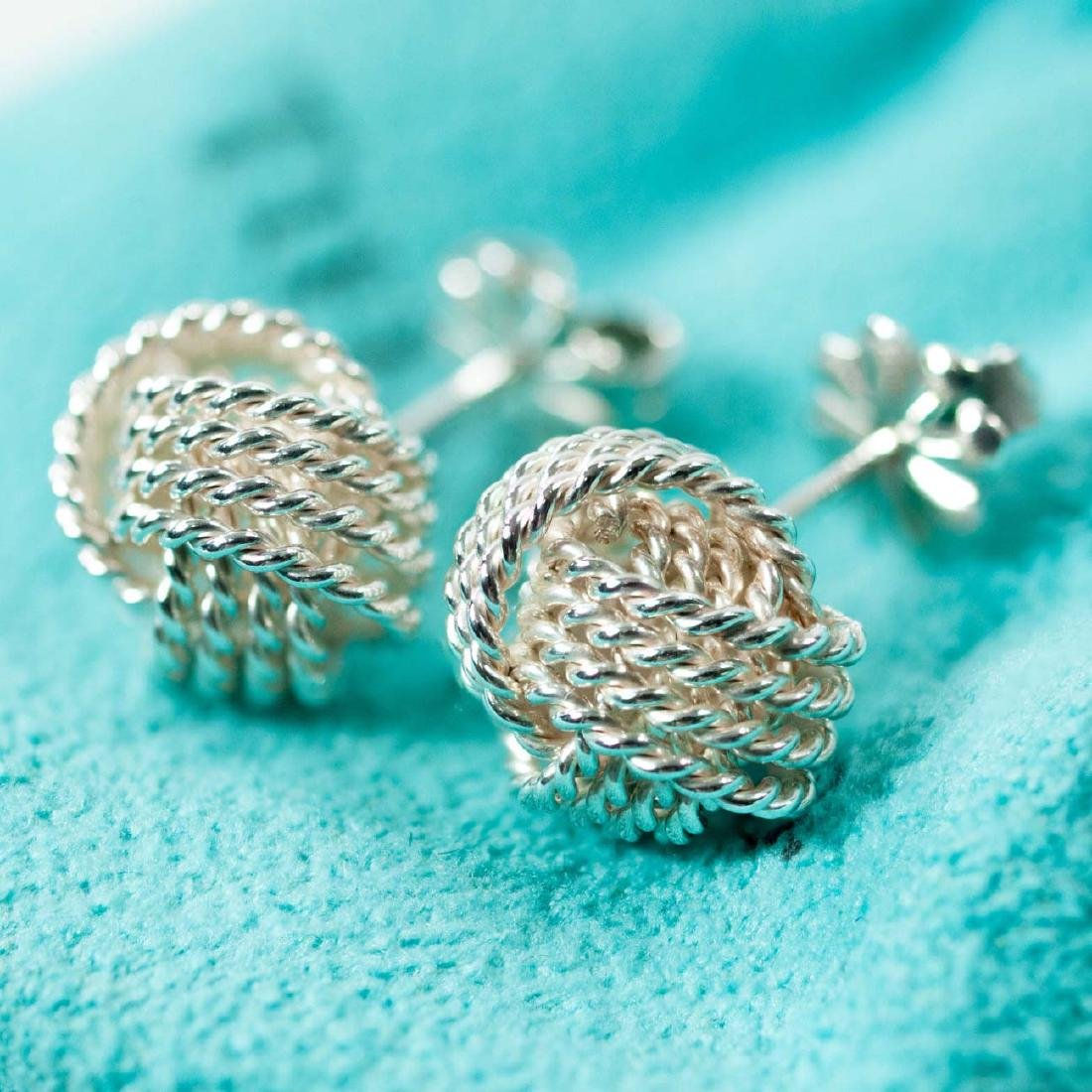 Tiffany and Co. Sterling Silver Somerset Mesh Love Knot