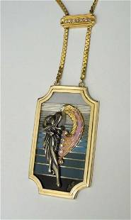 Erte Beauty of The Beast Pendant Necklace First State