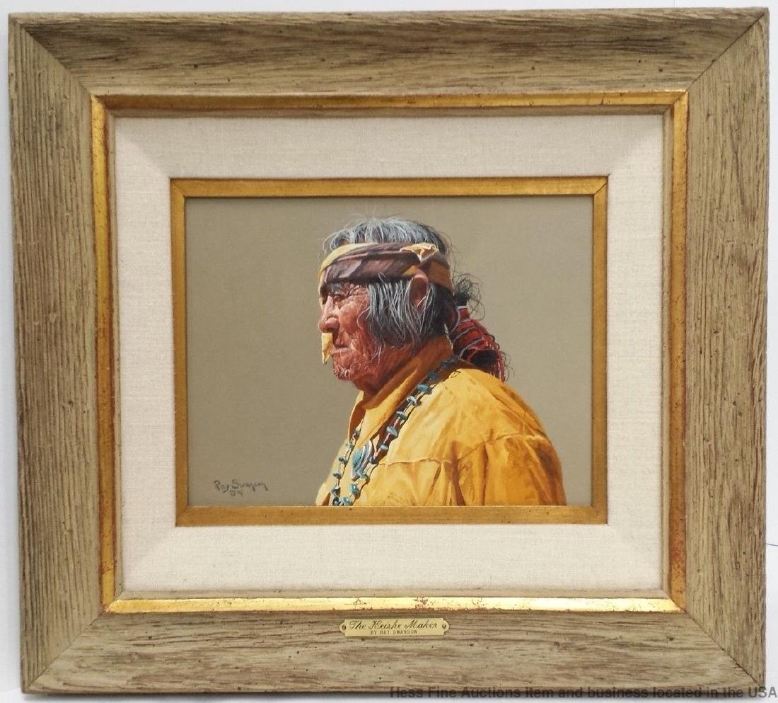 Ray Swanson Oil Painting Navajo and Hopi Indian