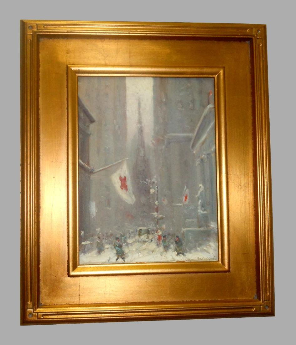 Johann Berthelsen NYC Winter Oil Painting Street in