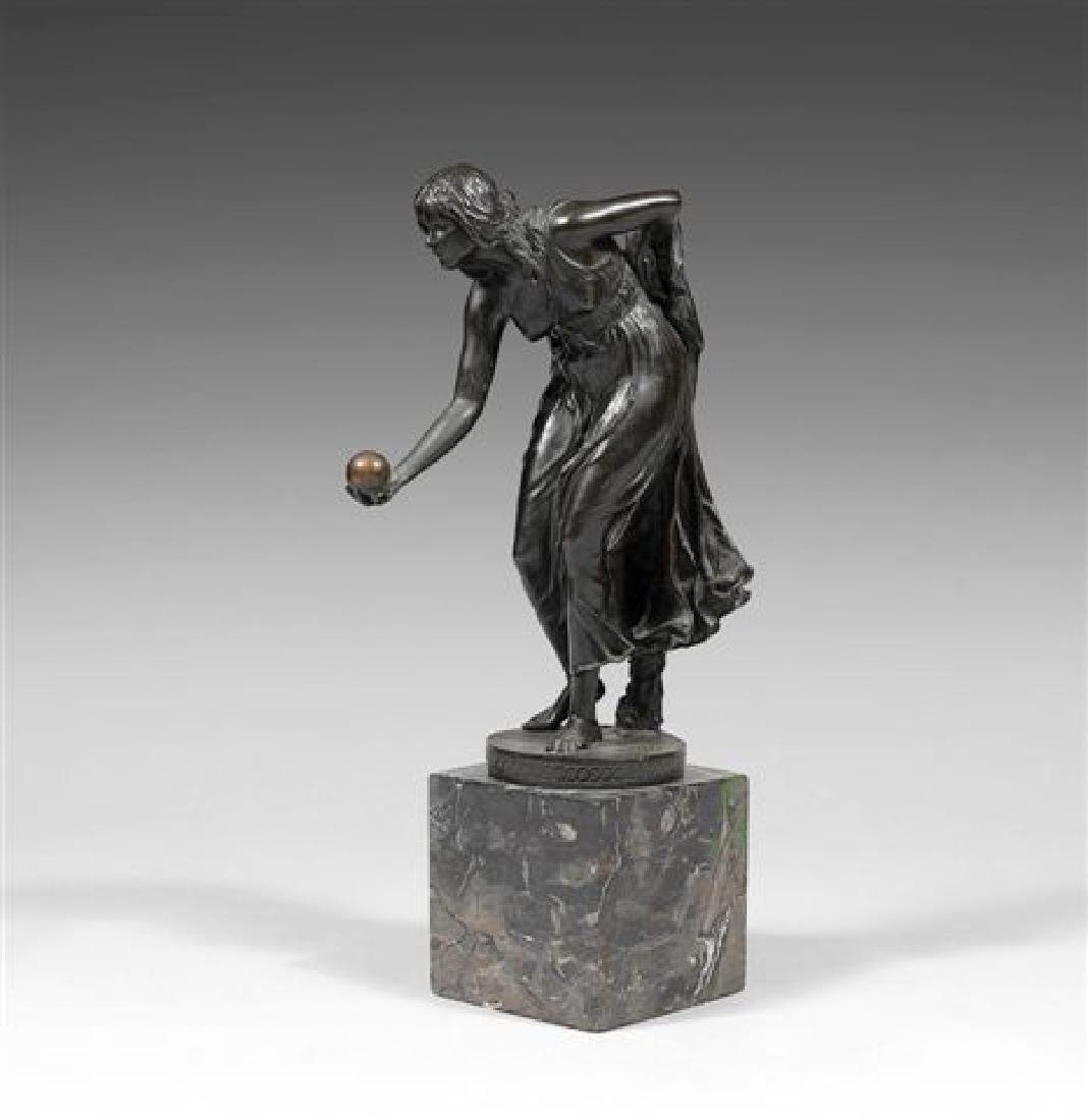 Walter Schott German Bronze Sculpture Female with