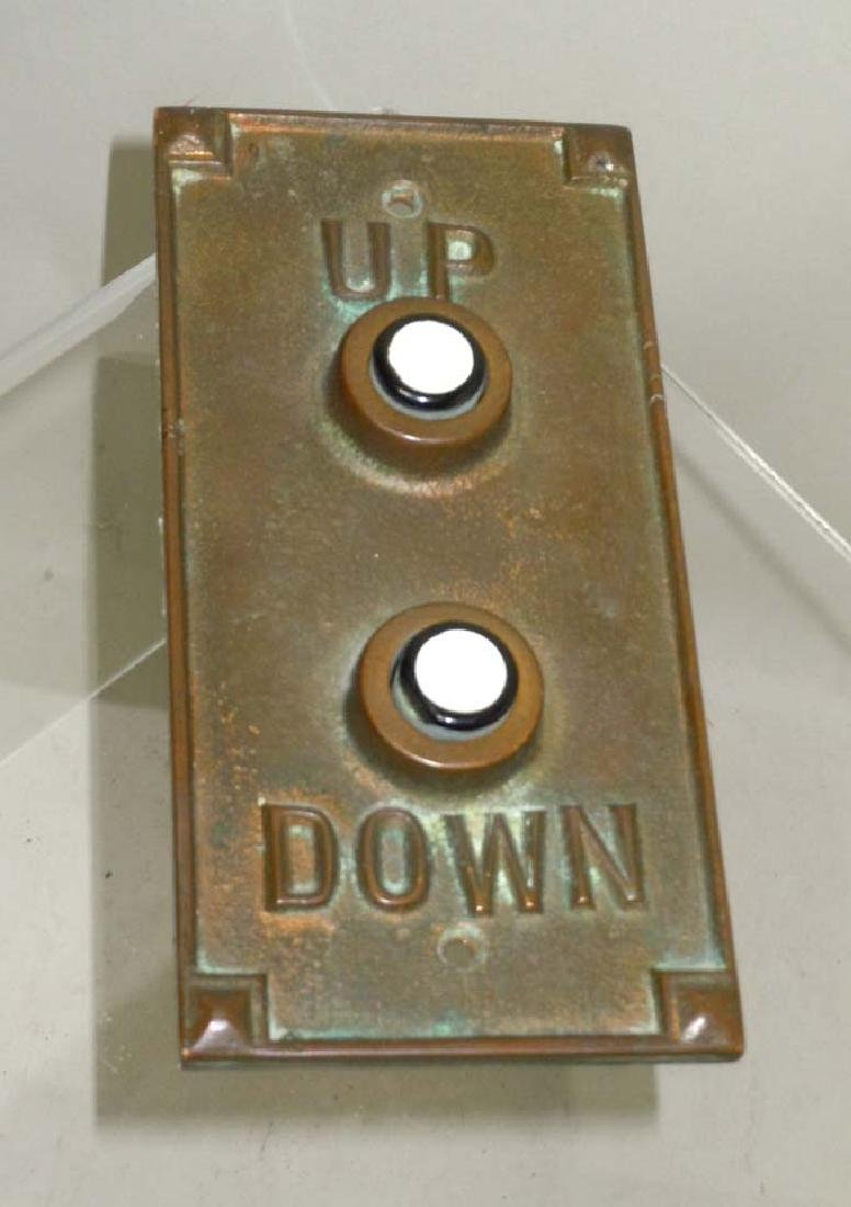 Art Deco Elevator Hall Button Plate Up Down with