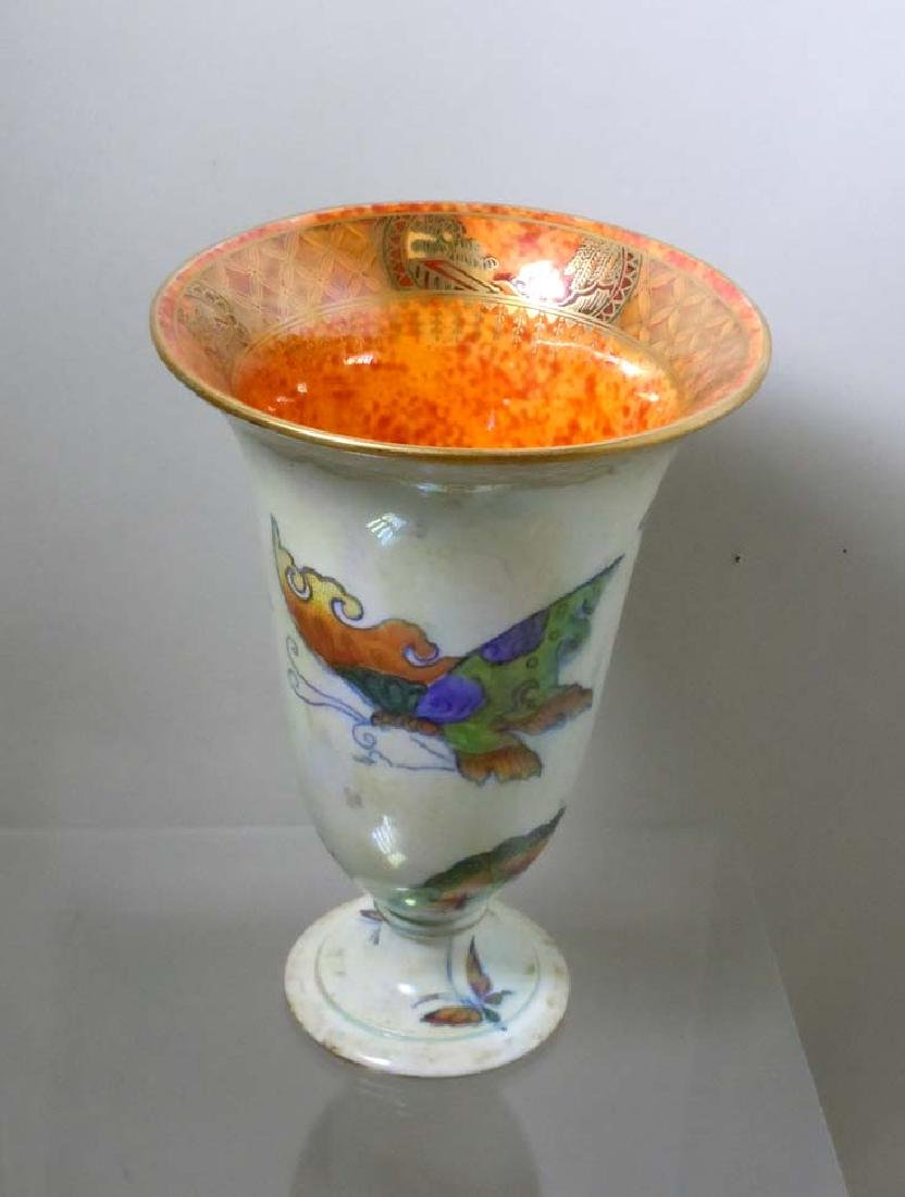 Wedgwood Fairyland Butterfly Lustre ware Trumpet Vase