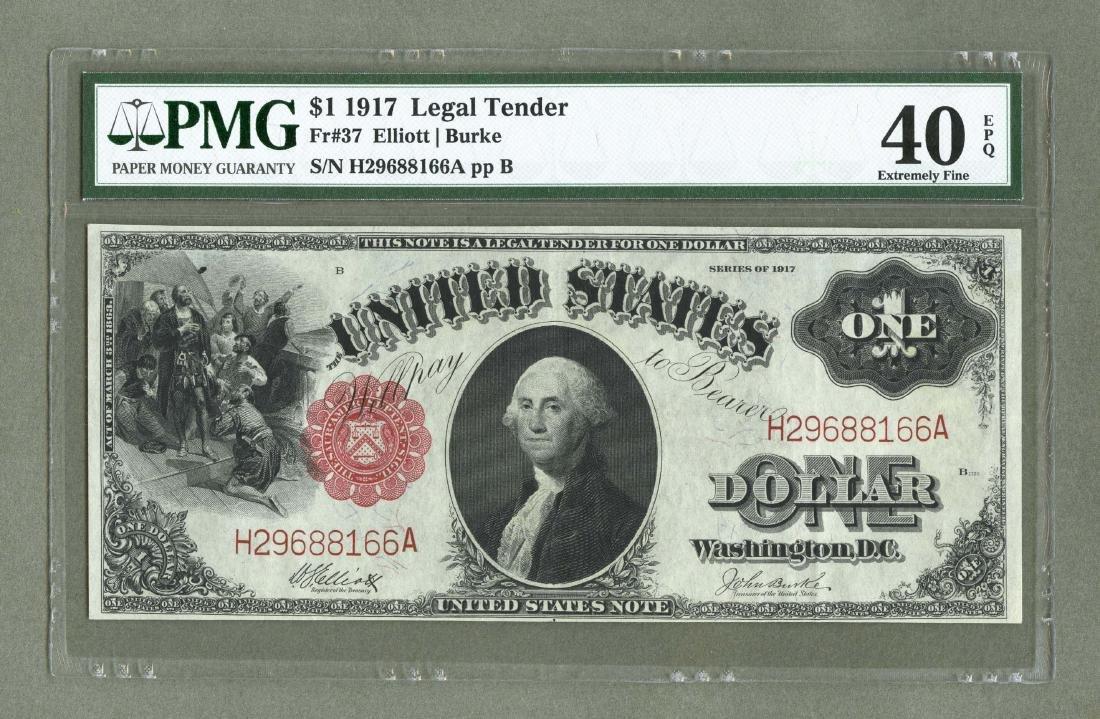 Large Washington Note Fr. 37 One Dollar 1917 Legal