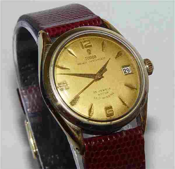 Mens Rolex Tudor Prince Oysterdate Calendar Watch