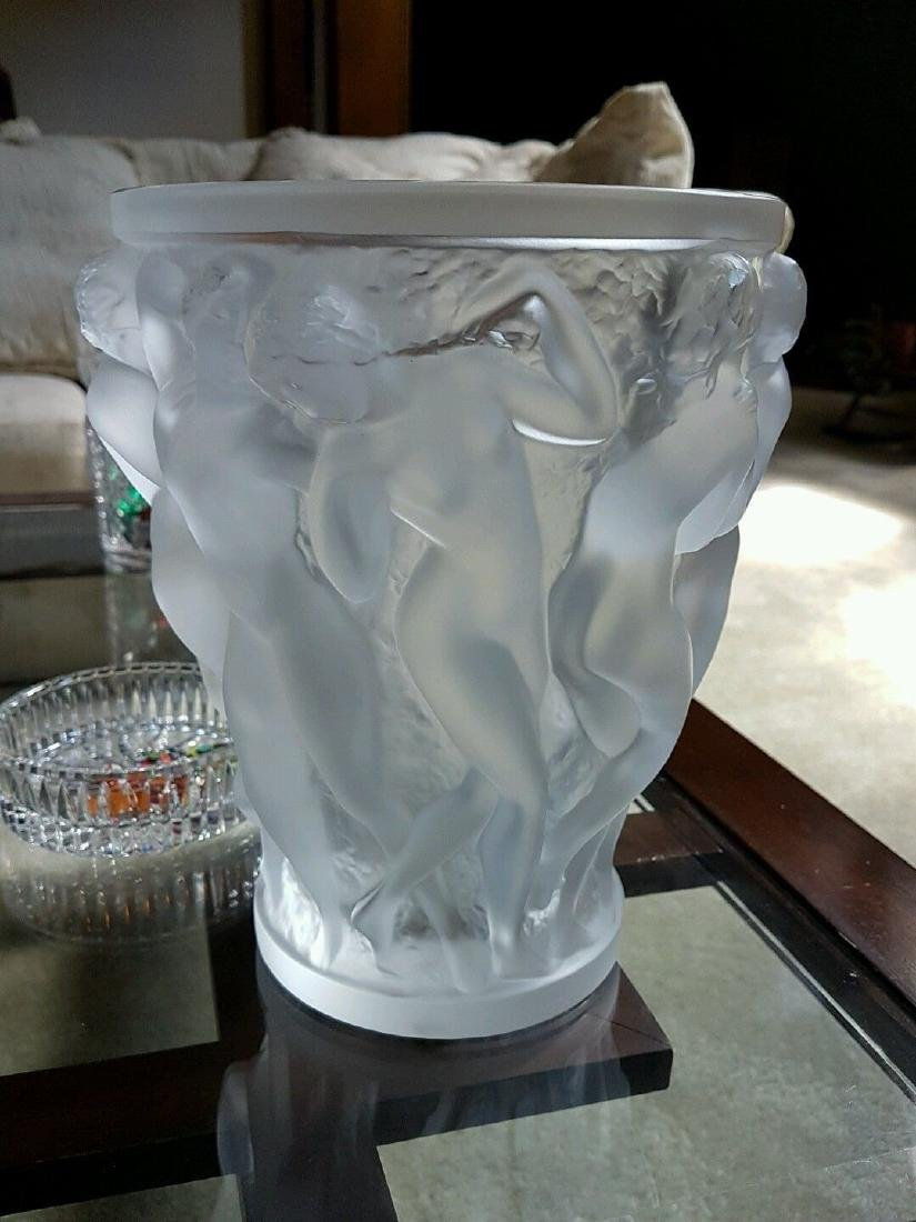 Lalique Crystal Bacchantes Vase Dancing Female Nudes In - 5
